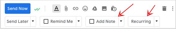recurring right inbox