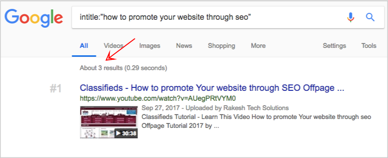google search how to promote your website