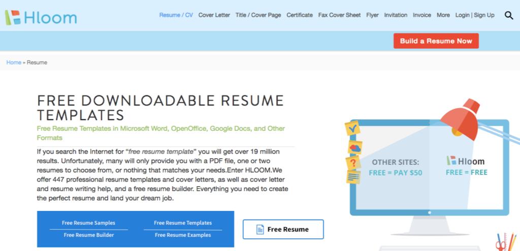hloom resume templates