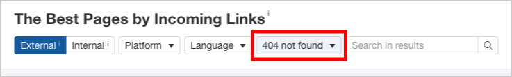 ahrefs 404 not found pages