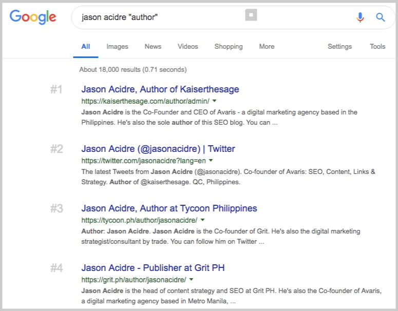 google prospecting by author