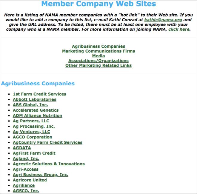 links page nama