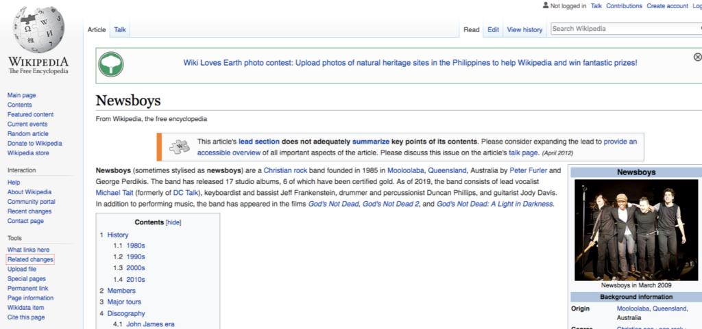 wikipedia newsboys