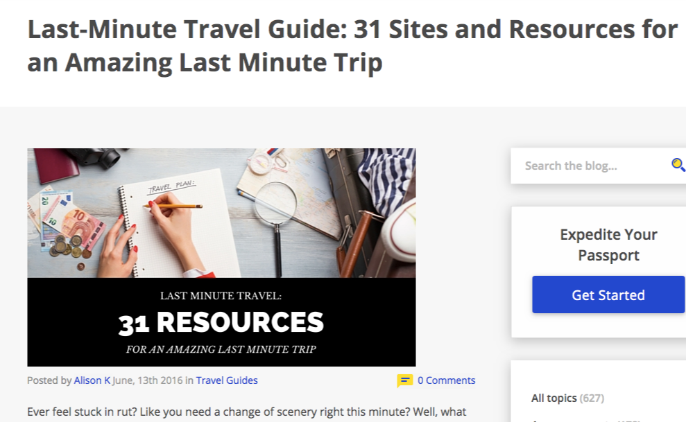 last minute travel guide