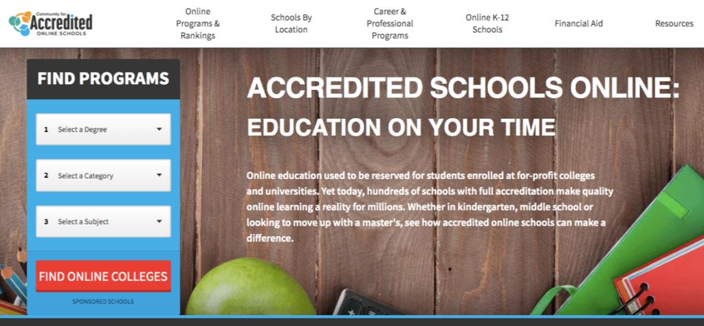 accredited online schools