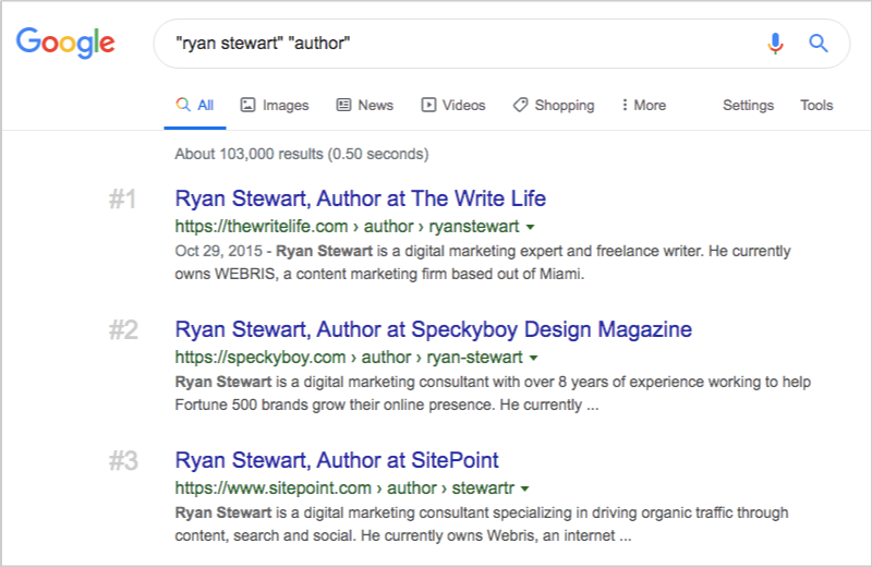 google search ryan stewart