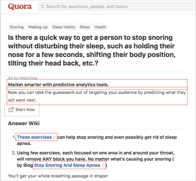 quora snoring thread