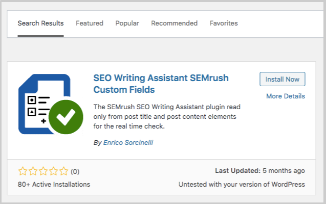 semrush swa wordpress plugin