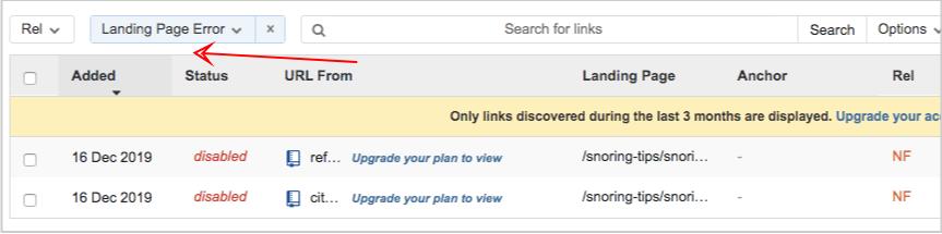 linkody landing page errors