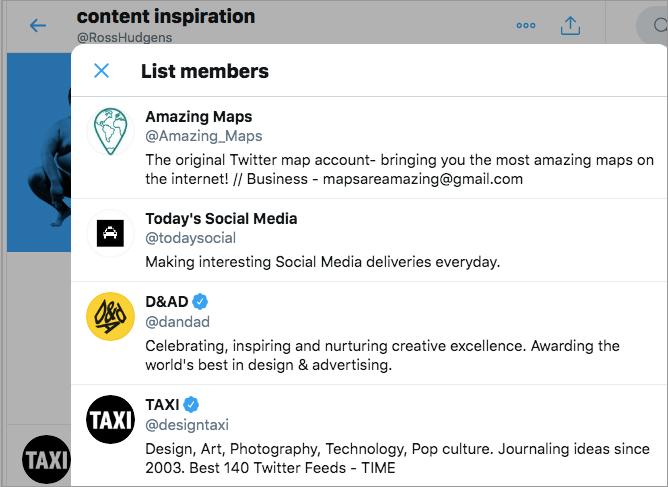 content inspiration twitter list