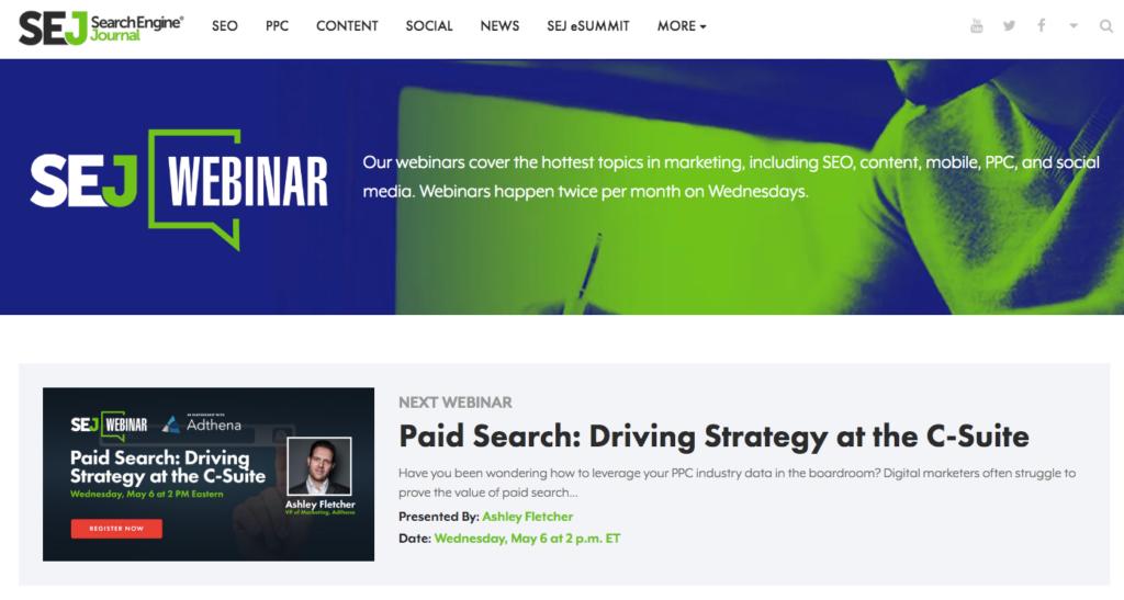 search engine journal webinar series