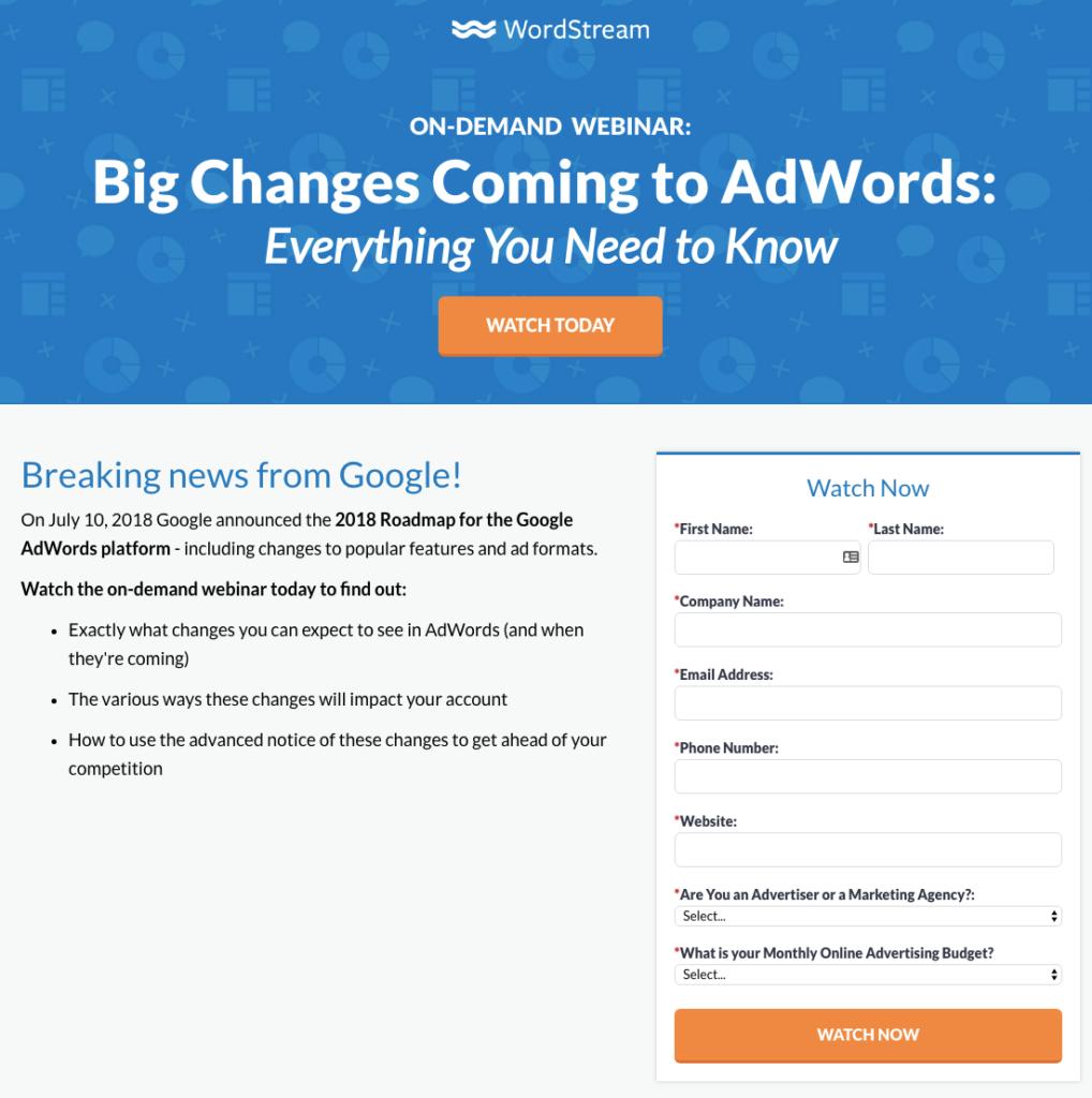 wordstream webinar series