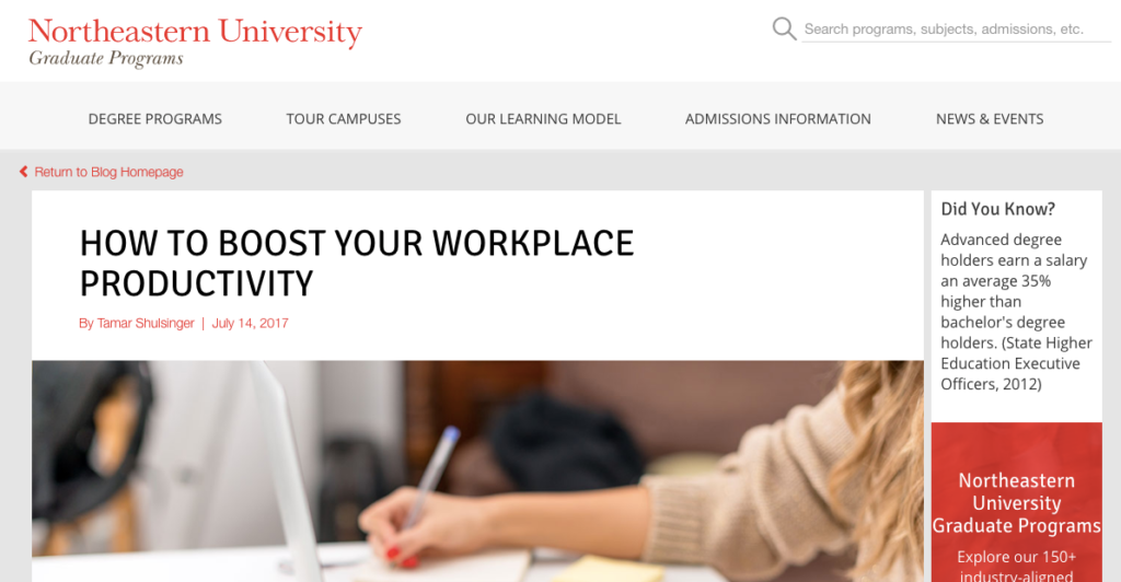 northeastern university edu blog