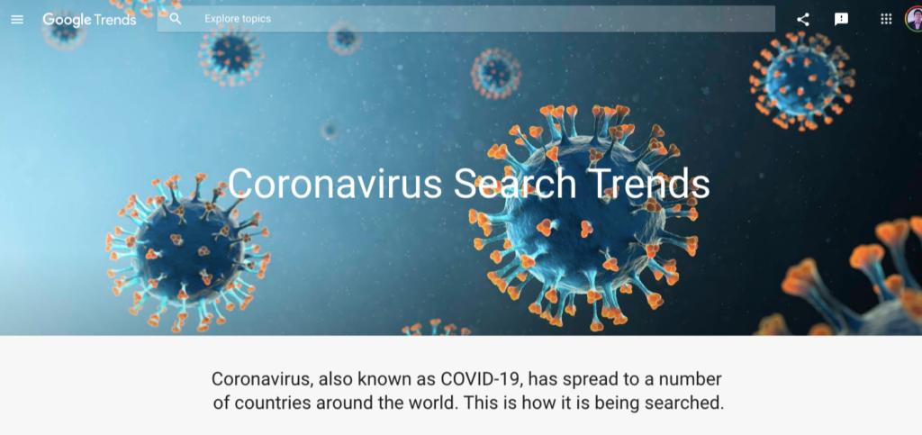 coronavirus search trends