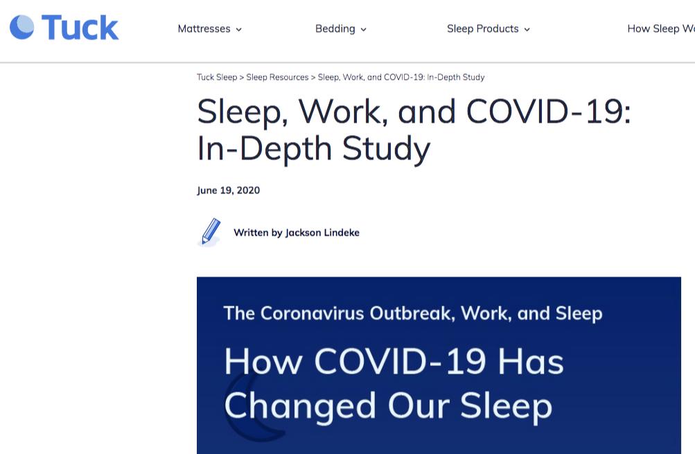 sleep covid 19 study