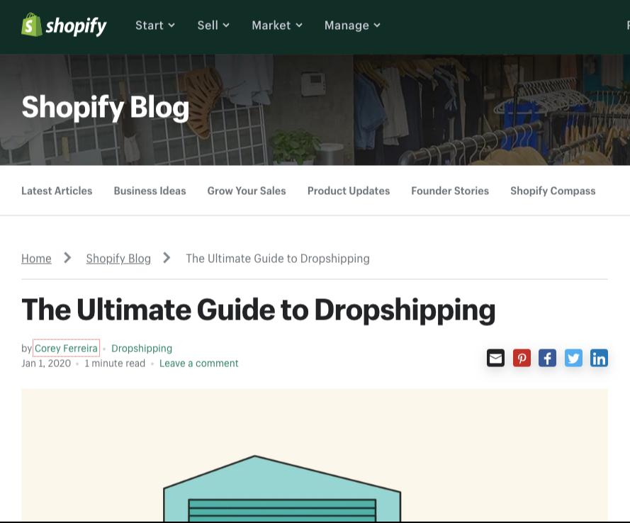 shopify dropshipping guide
