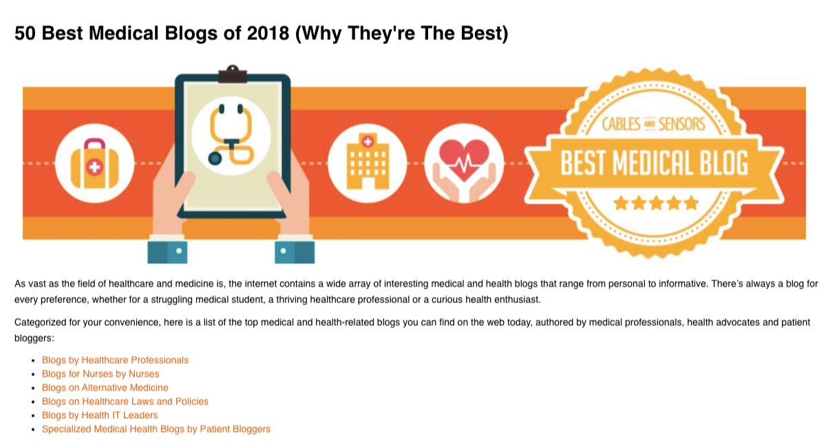 best medical blogs