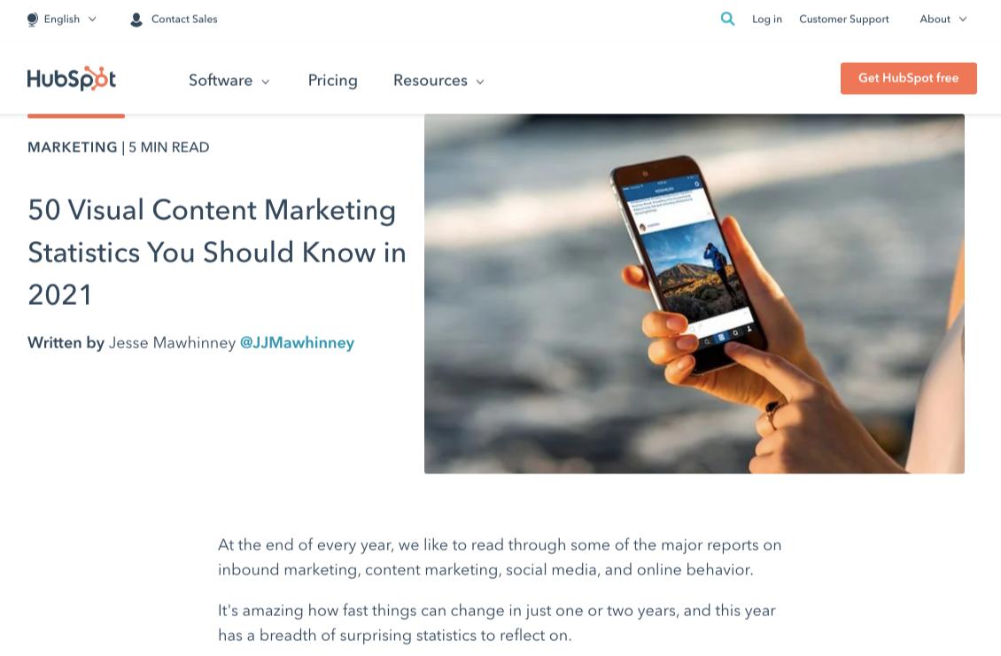 hubspot content marketing statistics