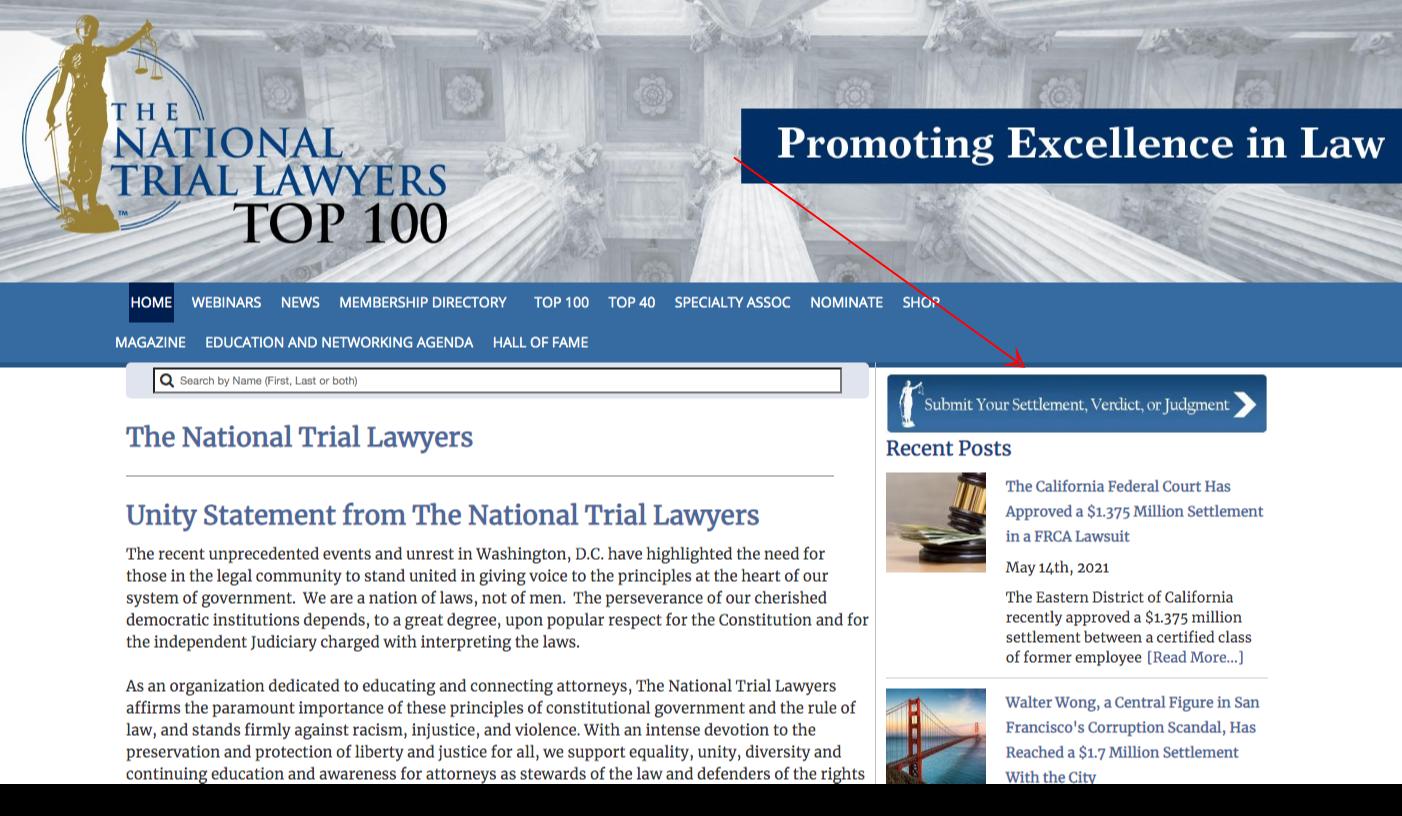 legal awards associations