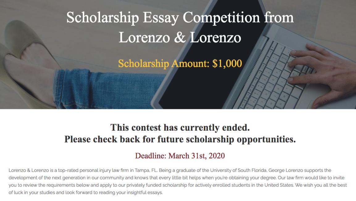 legal scholarship program