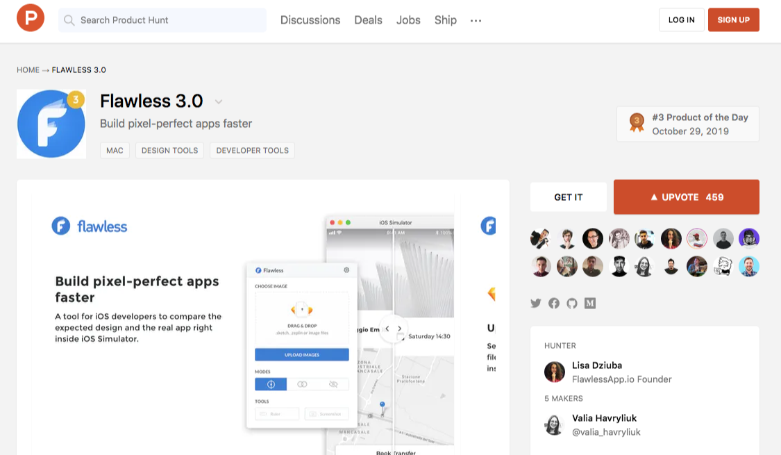 product hunt flawless