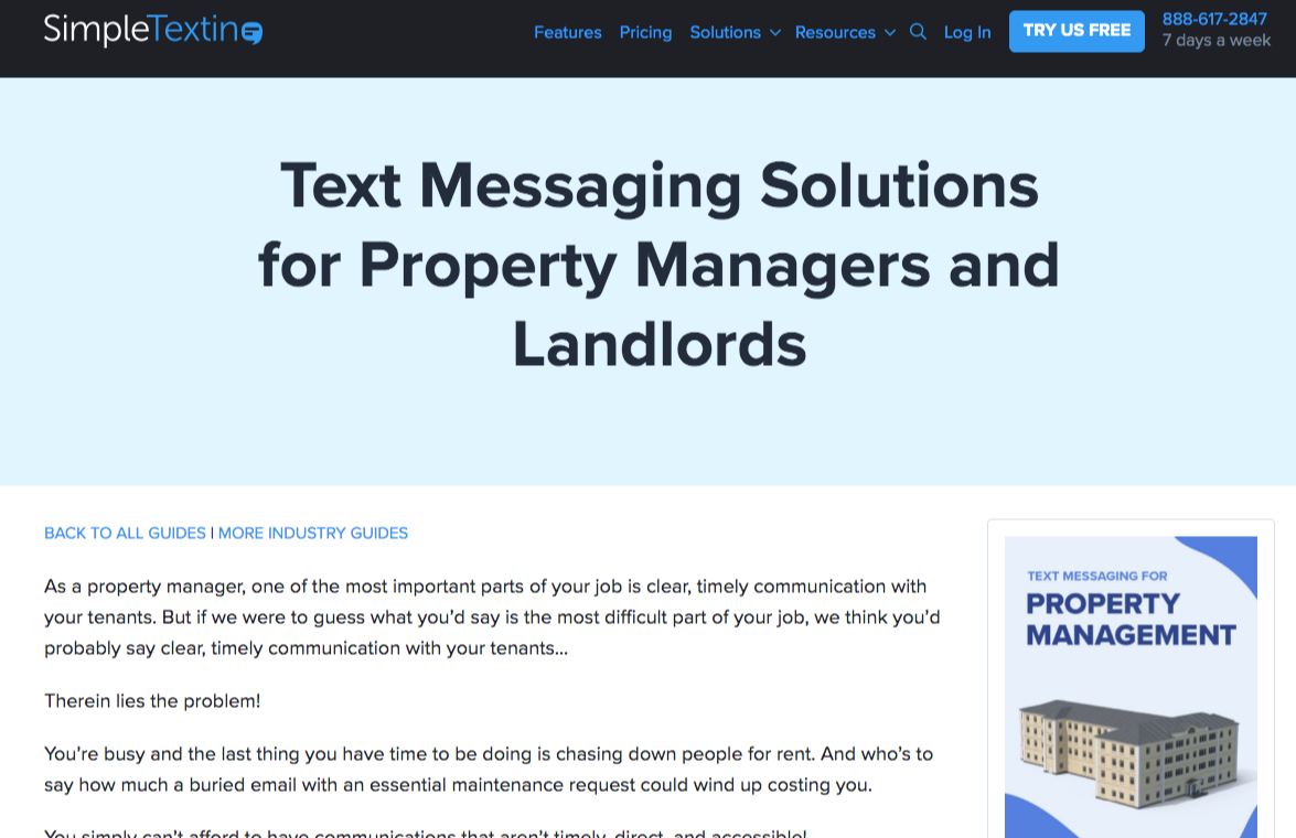 simpletexting property management