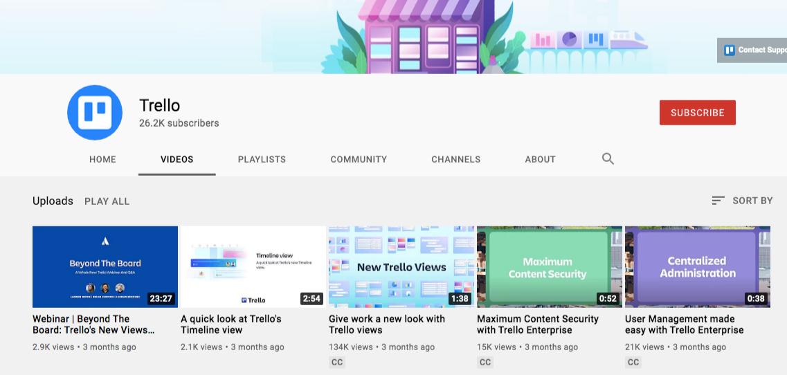 trello youtube videos