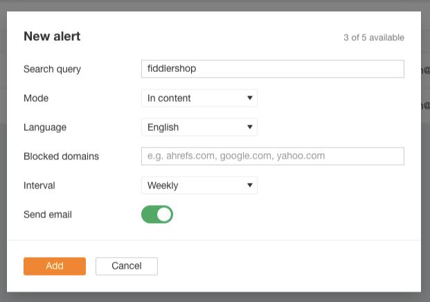 ahrefs new alerts ecommerce link building