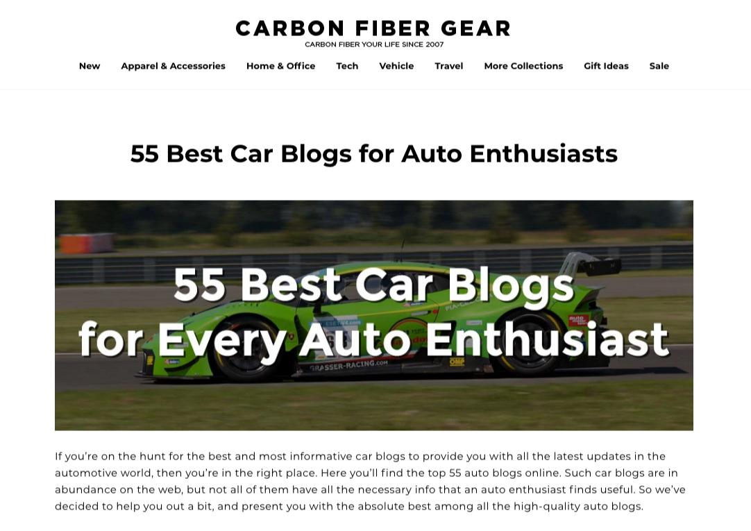 carbon fiber gear top car blogs