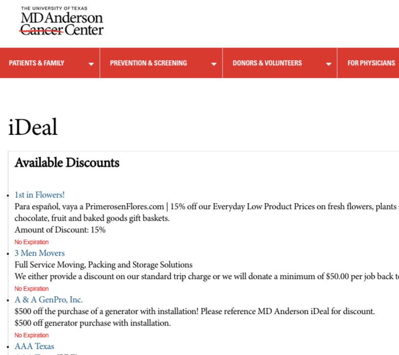 discount pages universities example