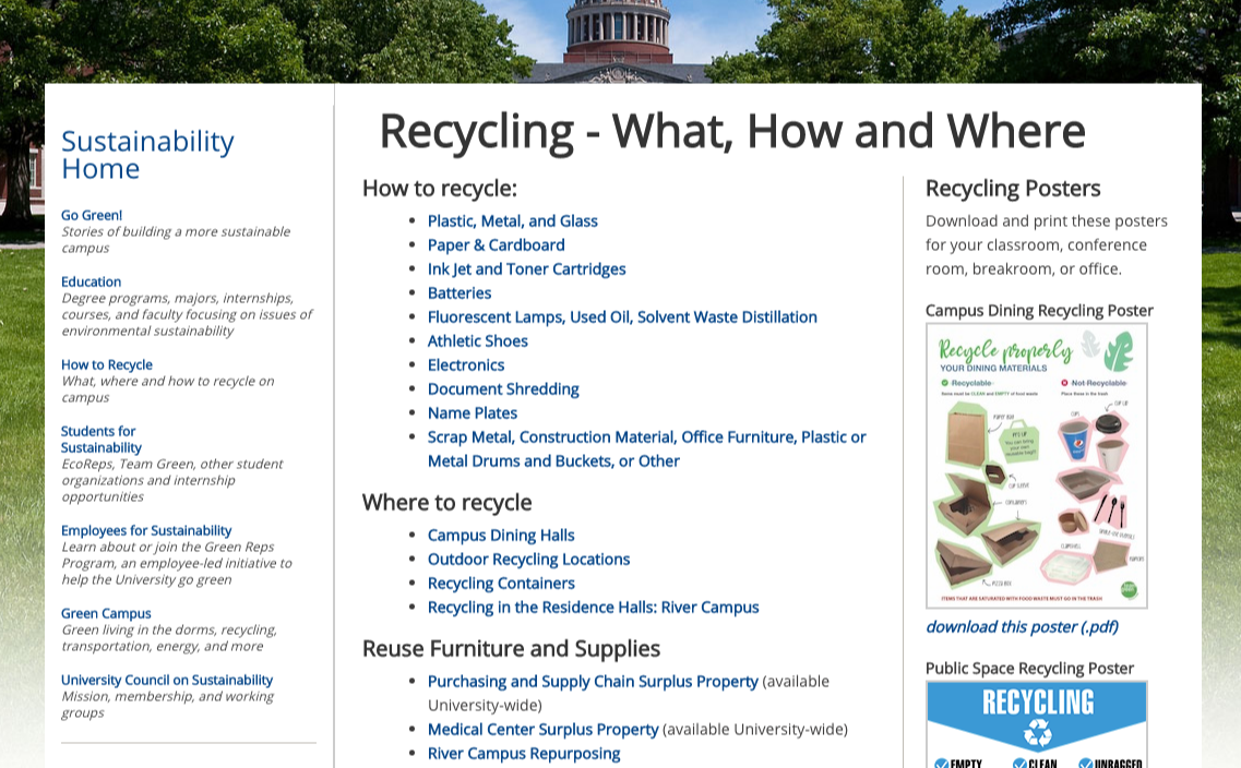 edu recycling page