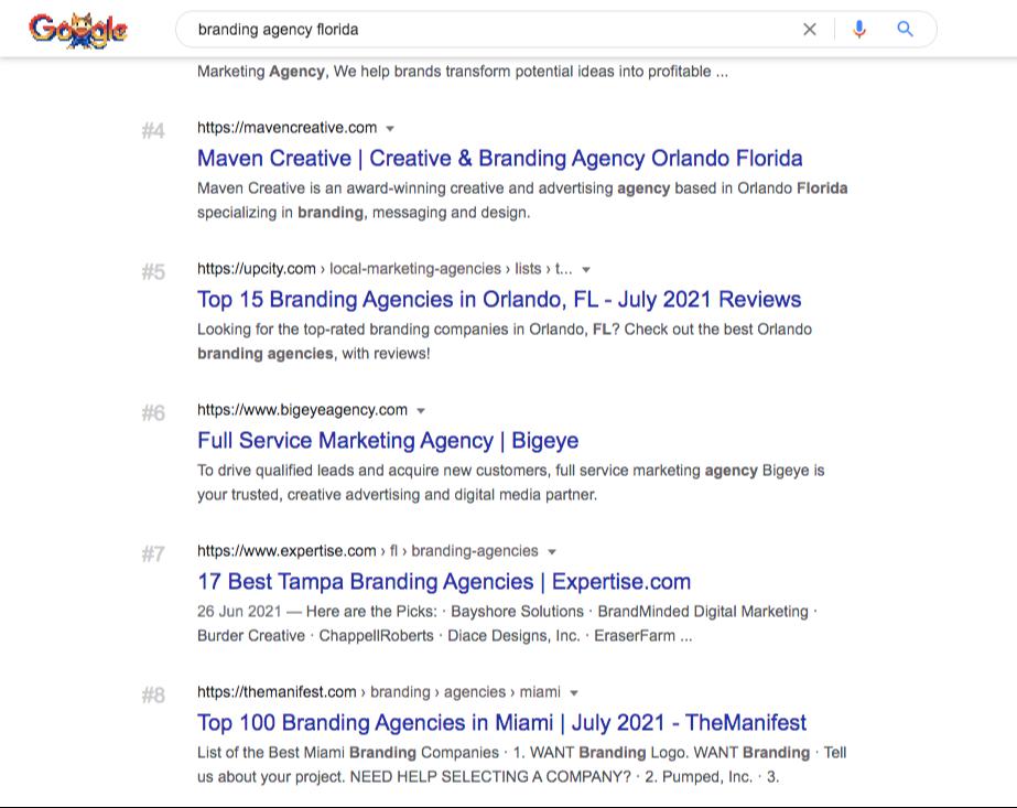 branding agency florida google search