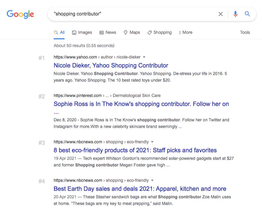 google search shopping contributors