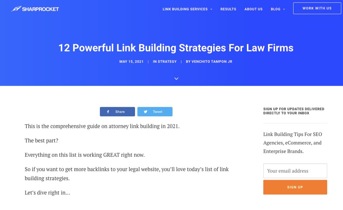 link building guide for lawyers sharprocket