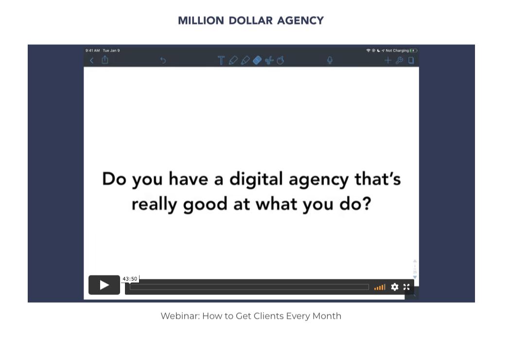 million dollar agency webinar dev basu