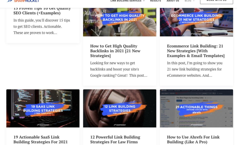 sharprocket link building blog