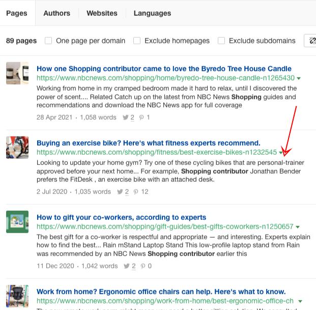 shopping contributors ahrefs content explorer