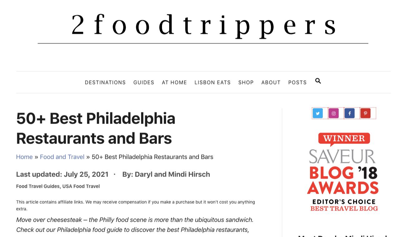 best restaurants philly article