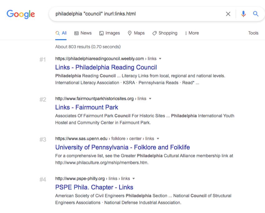 google philadelphia council links page