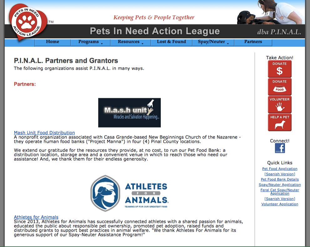 pet club sponsorship links